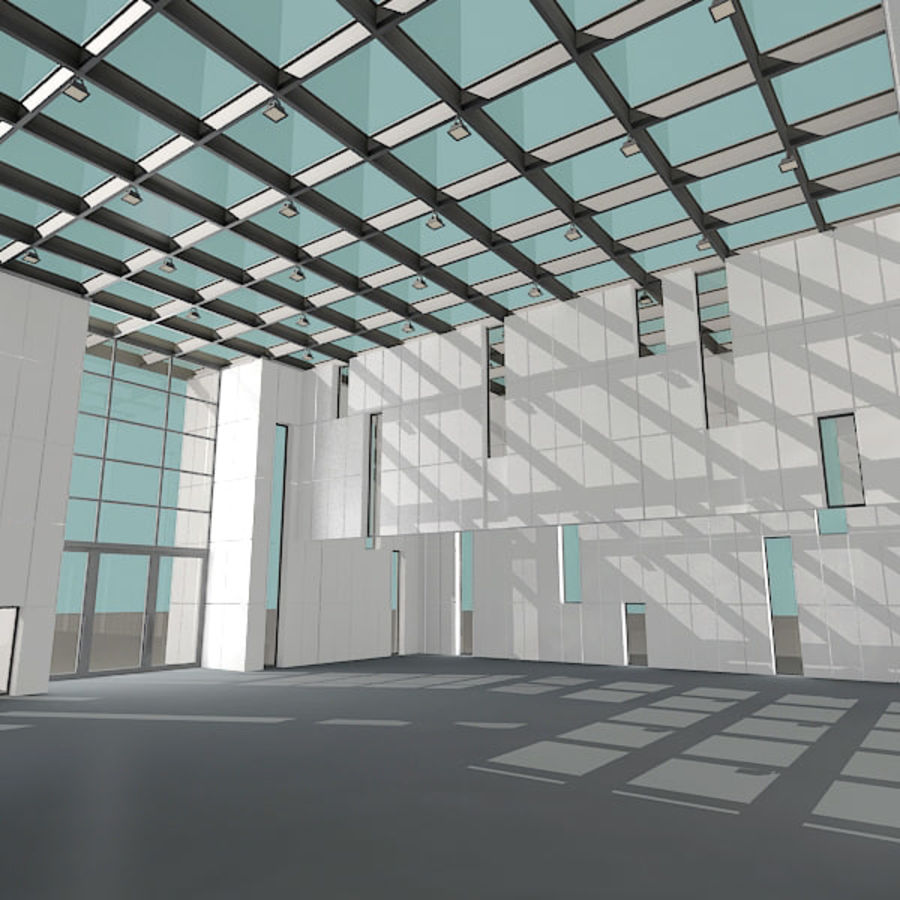 Moderne architectuur royalty-free 3d model - Preview no. 9