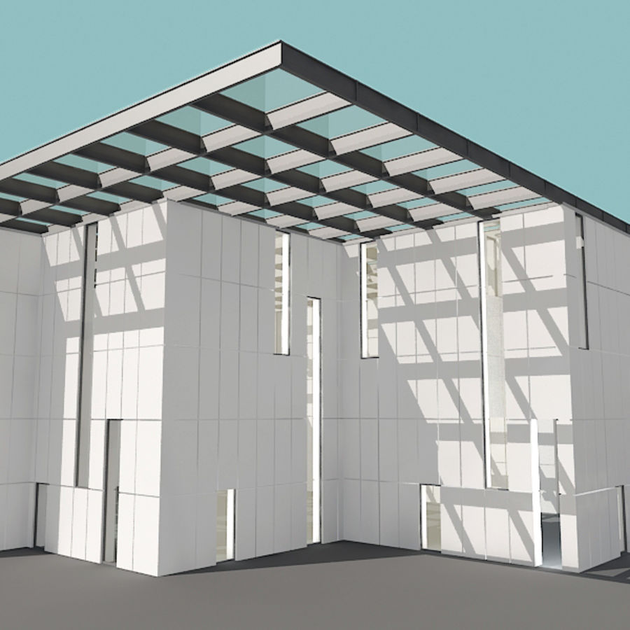 Architecture moderne royalty-free 3d model - Preview no. 19