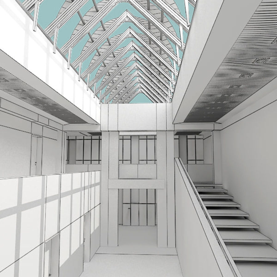 Moderne architectuur royalty-free 3d model - Preview no. 25
