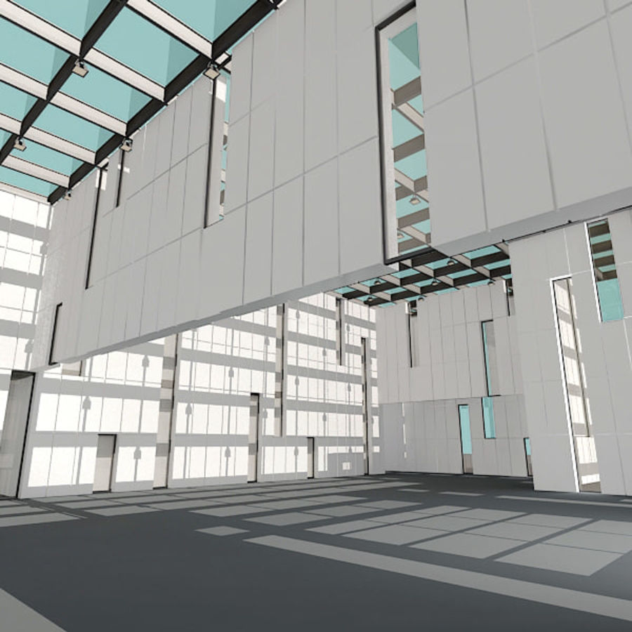 Moderne architectuur royalty-free 3d model - Preview no. 8