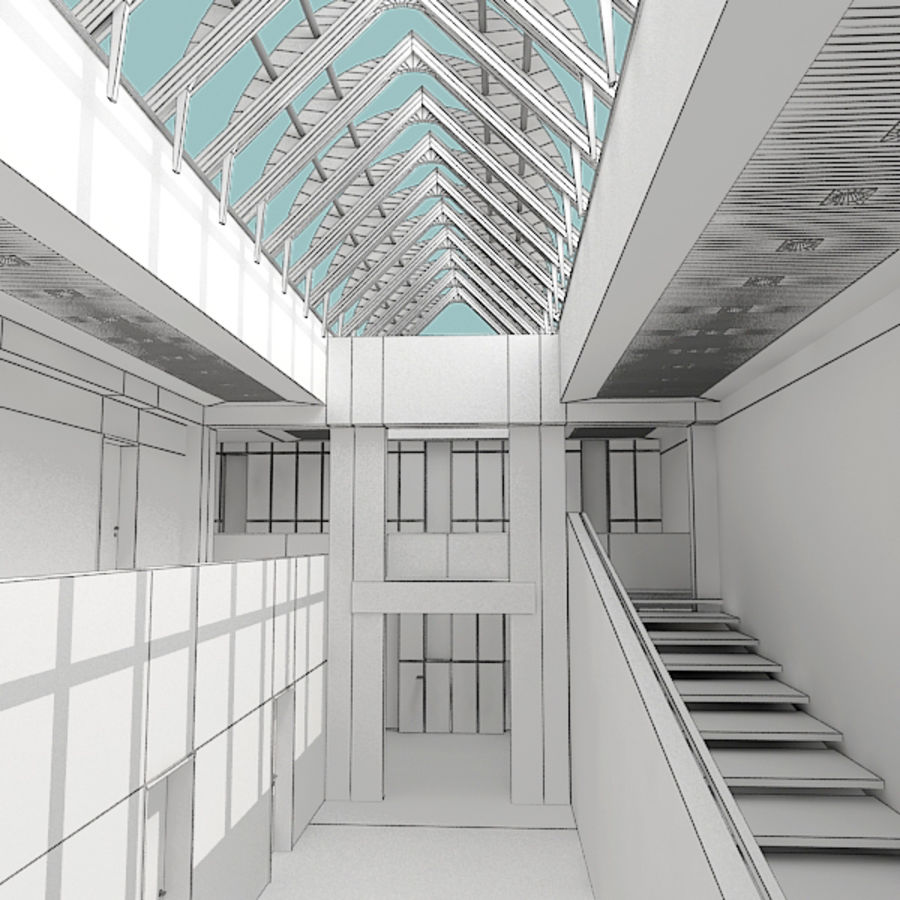 Architecture moderne royalty-free 3d model - Preview no. 25