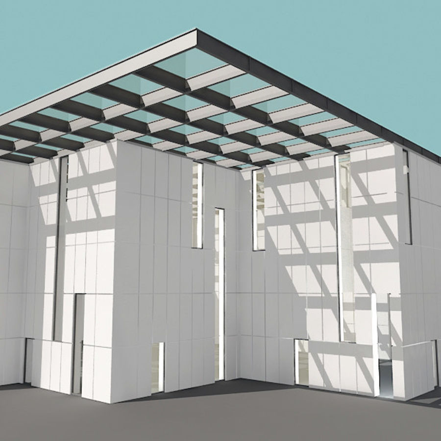Moderne architectuur royalty-free 3d model - Preview no. 19