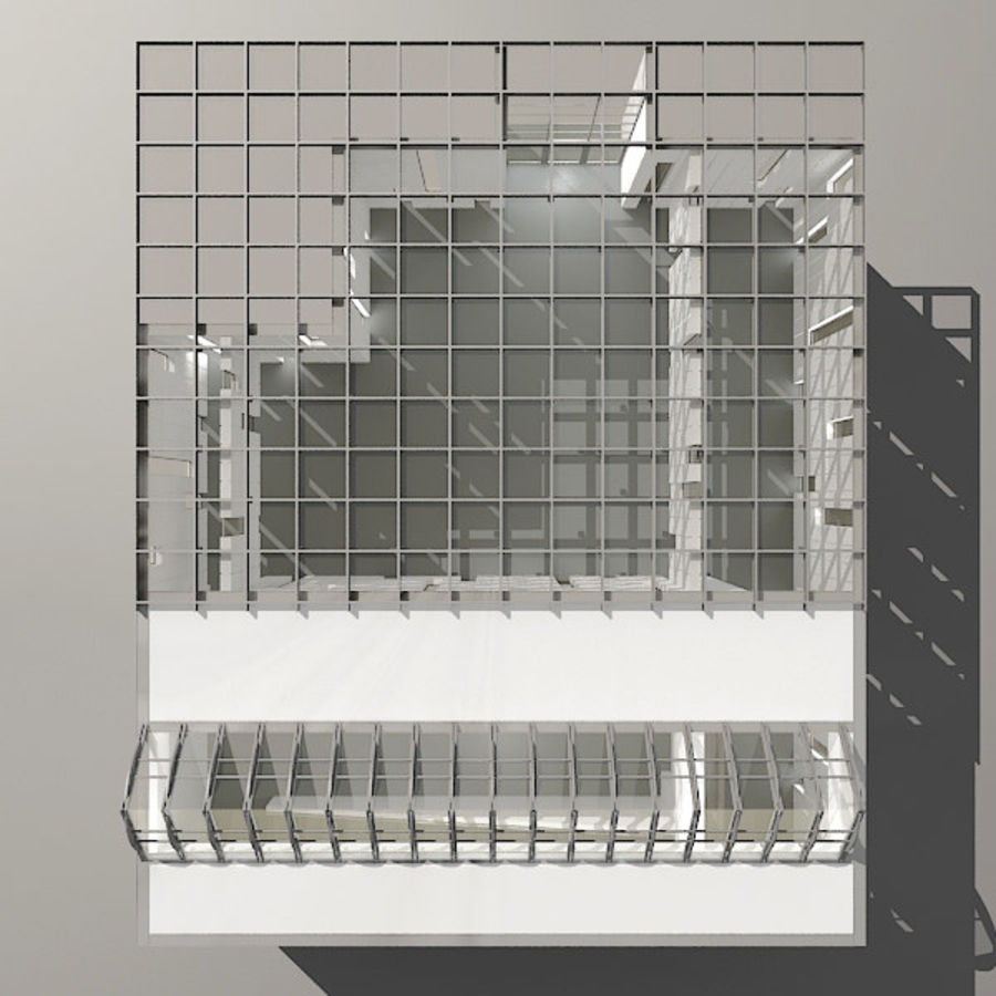 Moderne architectuur royalty-free 3d model - Preview no. 23