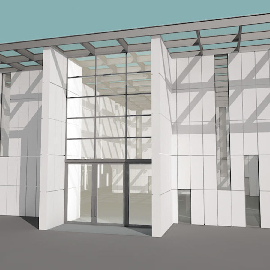 Moderne architectuur royalty-free 3d model - Preview no. 22