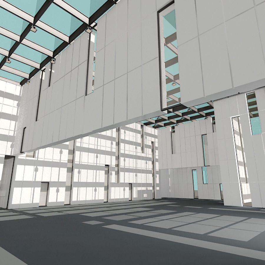 Architecture moderne royalty-free 3d model - Preview no. 8