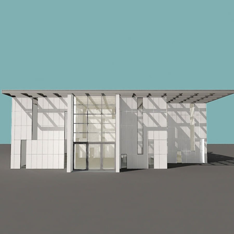 Moderne architectuur royalty-free 3d model - Preview no. 20