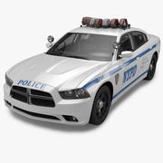 2012 Dodge Charger NYPD Police 3d model