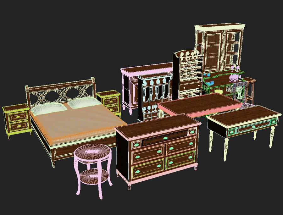 Modenese Gastone Collection royalty-free 3d model - Preview no. 48