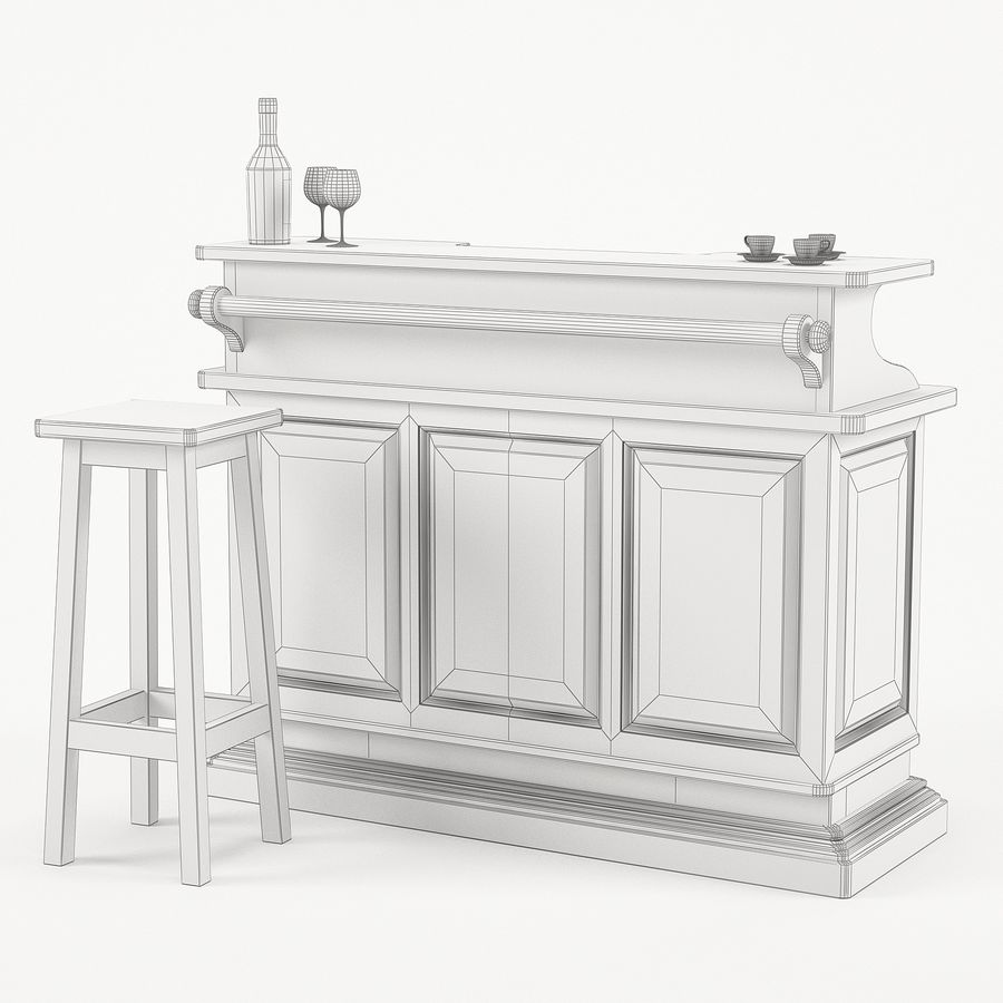 Modenese Gastone Collection royalty-free 3d model - Preview no. 45