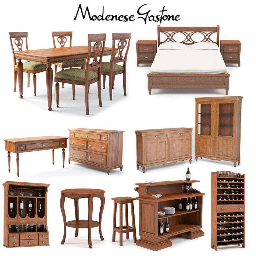 Modenese Gastone Collection royalty-free 3d model - Preview no. 1