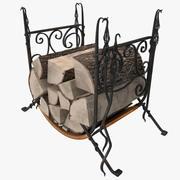 Estante de almacenamiento de leña modelo 3d
