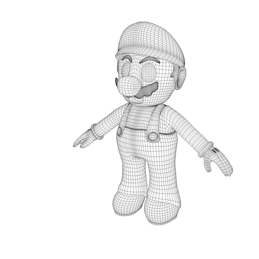 Super Mario royalty-free 3d model - Preview no. 4