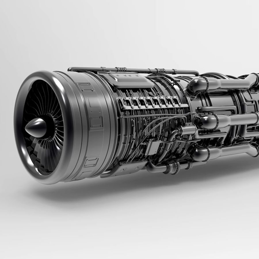 Aircraft Engine royalty-free 3d model - Preview no. 6