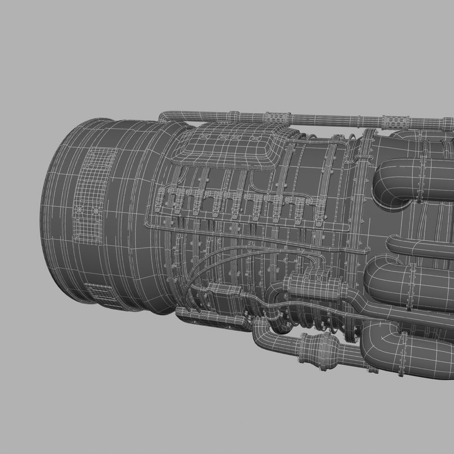 航空機エンジン royalty-free 3d model - Preview no. 11