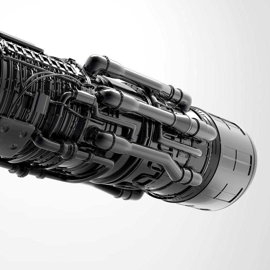 航空機エンジン royalty-free 3d model - Preview no. 8
