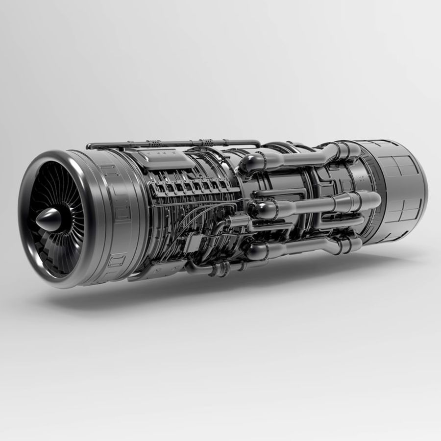Aircraft Engine royalty-free 3d model - Preview no. 2