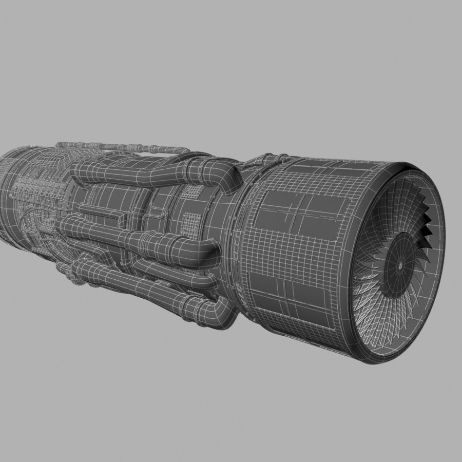Aircraft Engine royalty-free 3d model - Preview no. 12