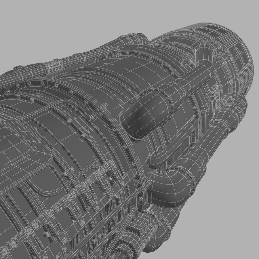 航空機エンジン royalty-free 3d model - Preview no. 14