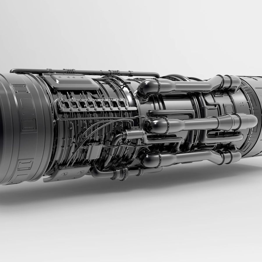 Aircraft Engine royalty-free 3d model - Preview no. 7