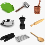 Collection d'outils de cuisine 3 3d model