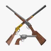 Old West Gun Set 3d model