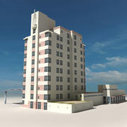 Beach Building 05 3d model