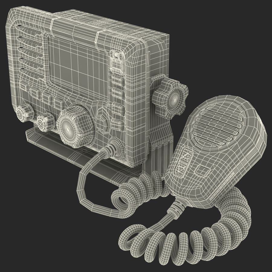 Marine Transceiver and Microphone Icom royalty-free 3d model - Preview no. 22