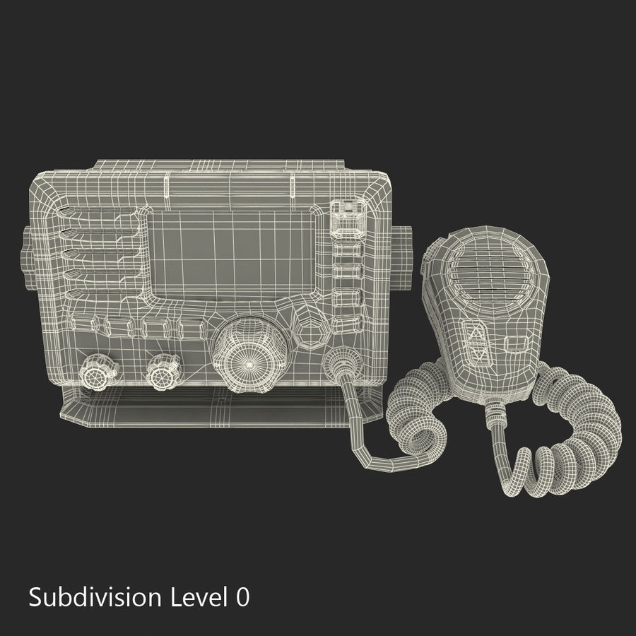 Marine Transceiver and Microphone Icom royalty-free 3d model - Preview no. 35