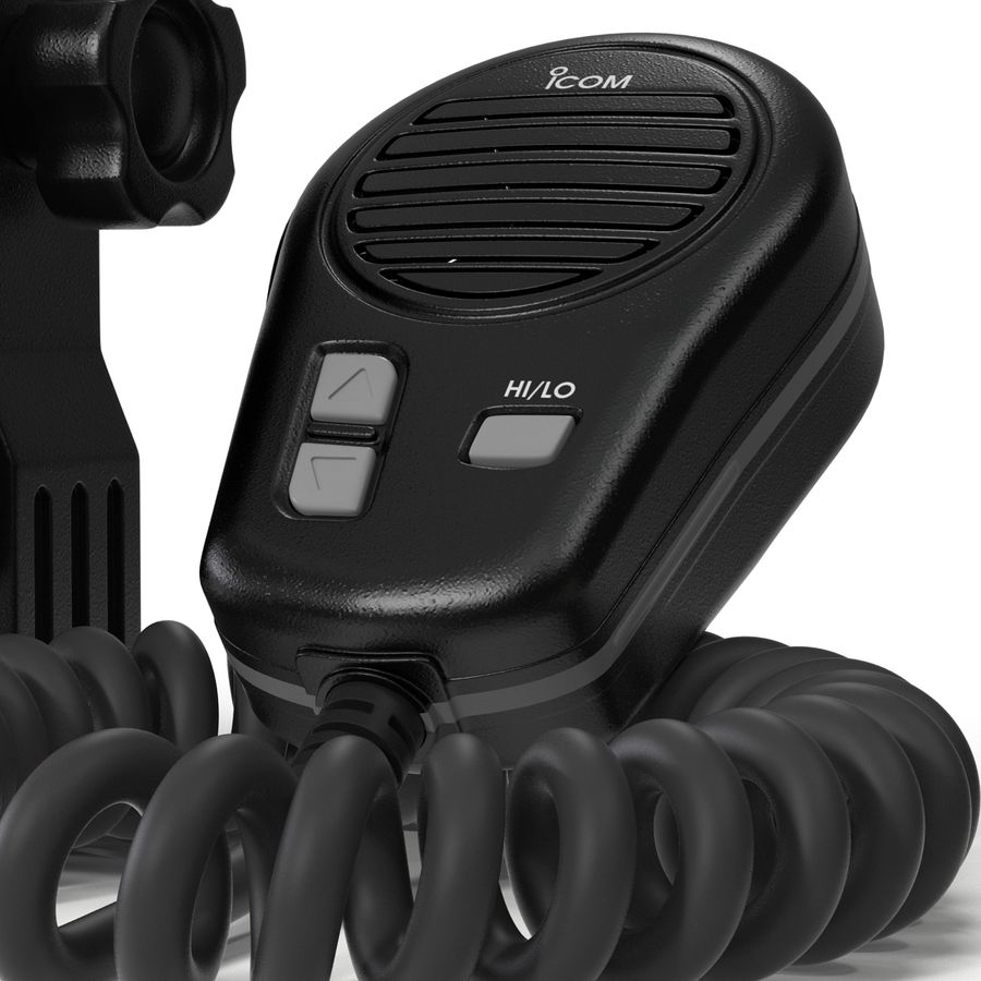 Marine Transceiver and Microphone Icom royalty-free 3d model - Preview no. 12