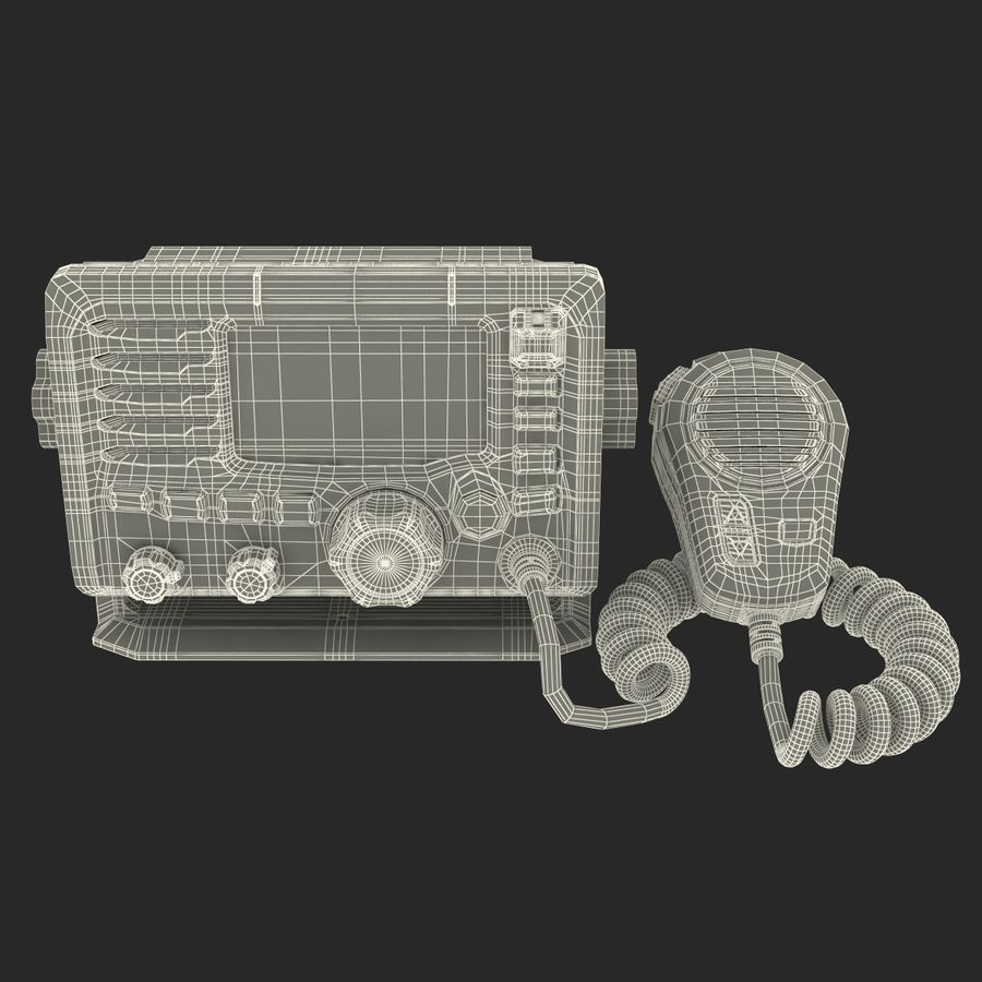 Marine Transceiver and Microphone Icom royalty-free 3d model - Preview no. 21