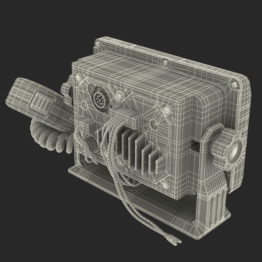 Marine Transceiver and Microphone Icom royalty-free 3d model - Preview no. 26