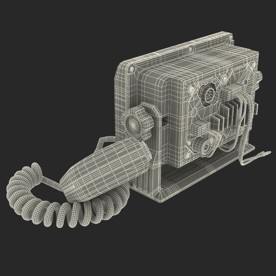 Marine Transceiver and Microphone Icom royalty-free 3d model - Preview no. 24