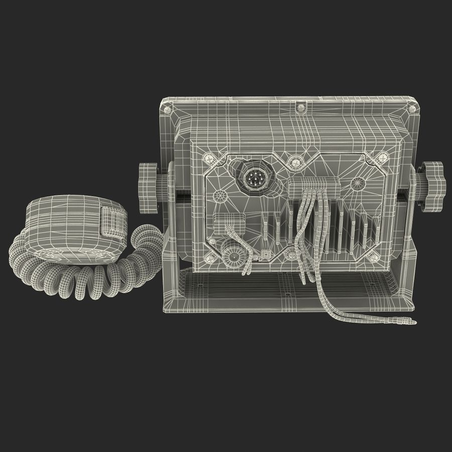 Marine Transceiver and Microphone Icom royalty-free 3d model - Preview no. 25