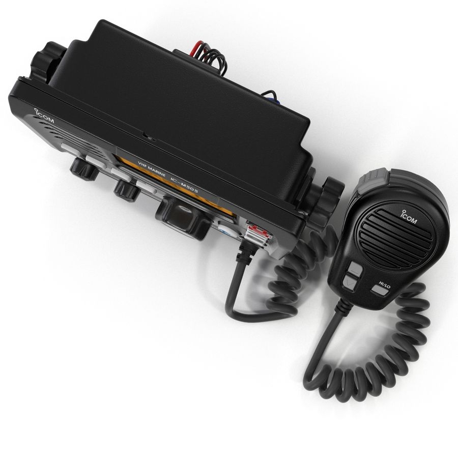 Marine Transceiver and Microphone Icom royalty-free 3d model - Preview no. 11