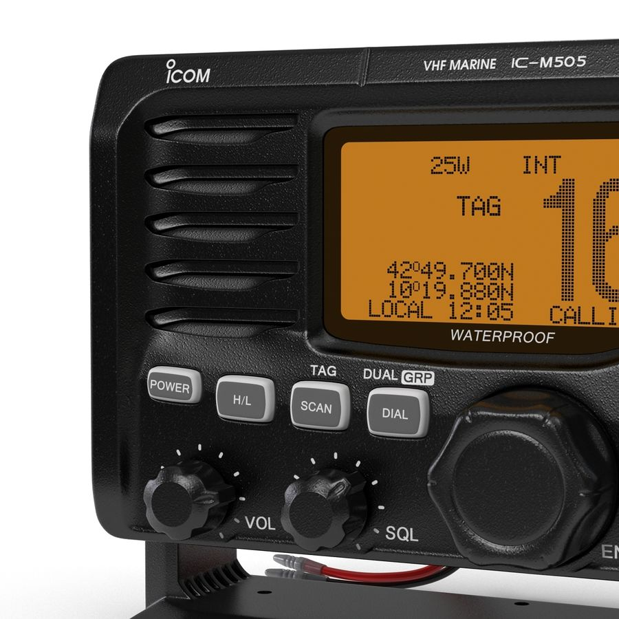 Marine Transceiver and Microphone Icom royalty-free 3d model - Preview no. 14