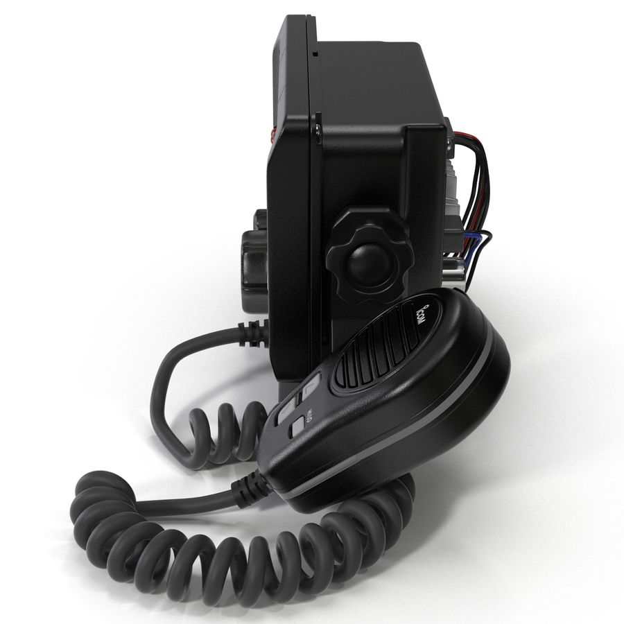 Marine Transceiver and Microphone Icom royalty-free 3d model - Preview no. 5
