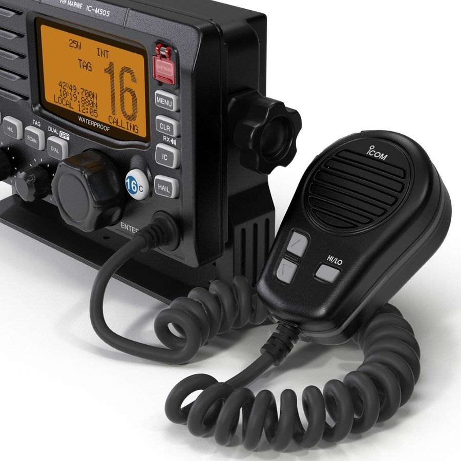 Marine Transceiver and Microphone Icom royalty-free 3d model - Preview no. 18