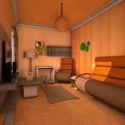 Уютная гостиная 3d model