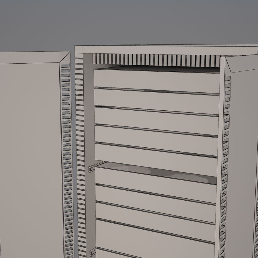 Dell Computer Server Rack royalty-free 3d model - Preview no. 9