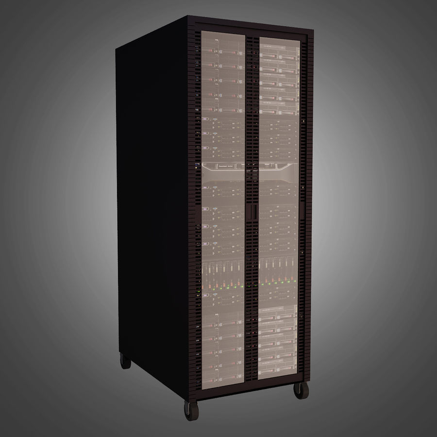 Dell Computer Server Rack royalty-free 3d model - Preview no. 4