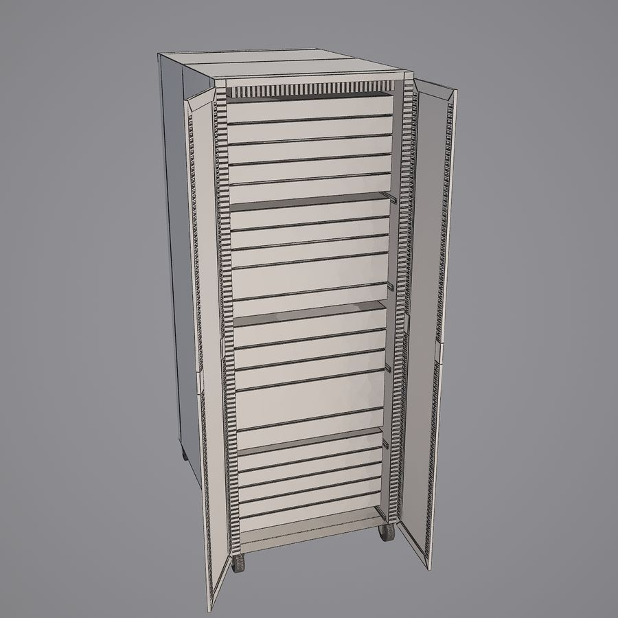 Dell Computer Server Rack royalty-free 3d model - Preview no. 8