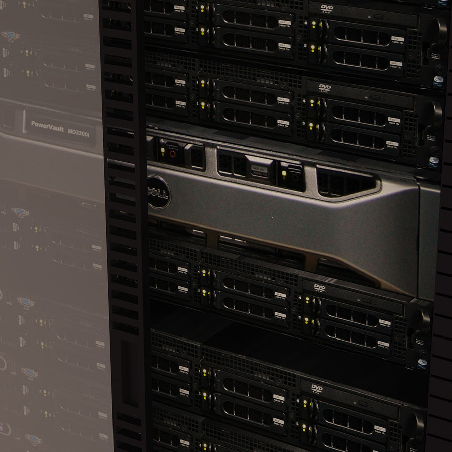 Dell Computer Server Rack royalty-free 3d model - Preview no. 5