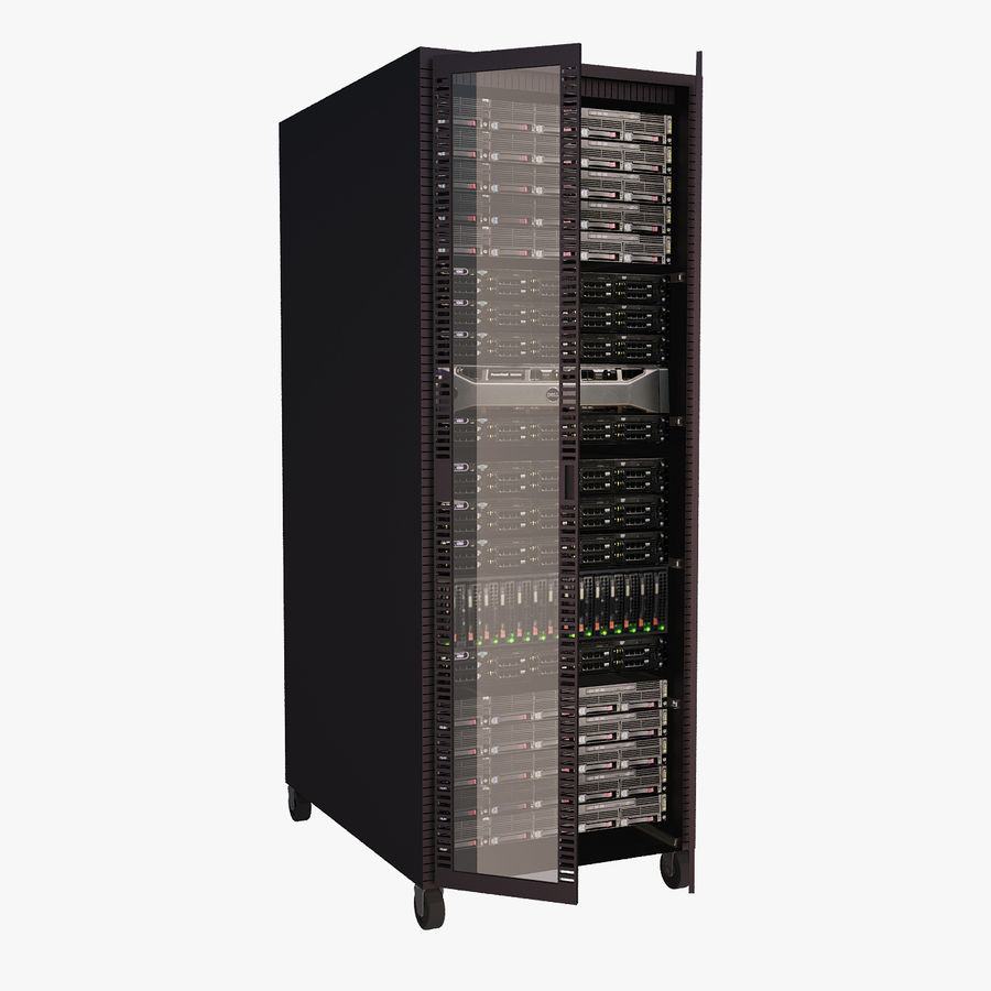 Dell Computer Server Rack royalty-free 3d model - Preview no. 1