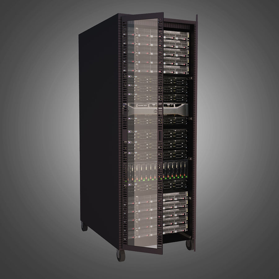 Dell Computer Server Rack royalty-free 3d model - Preview no. 2