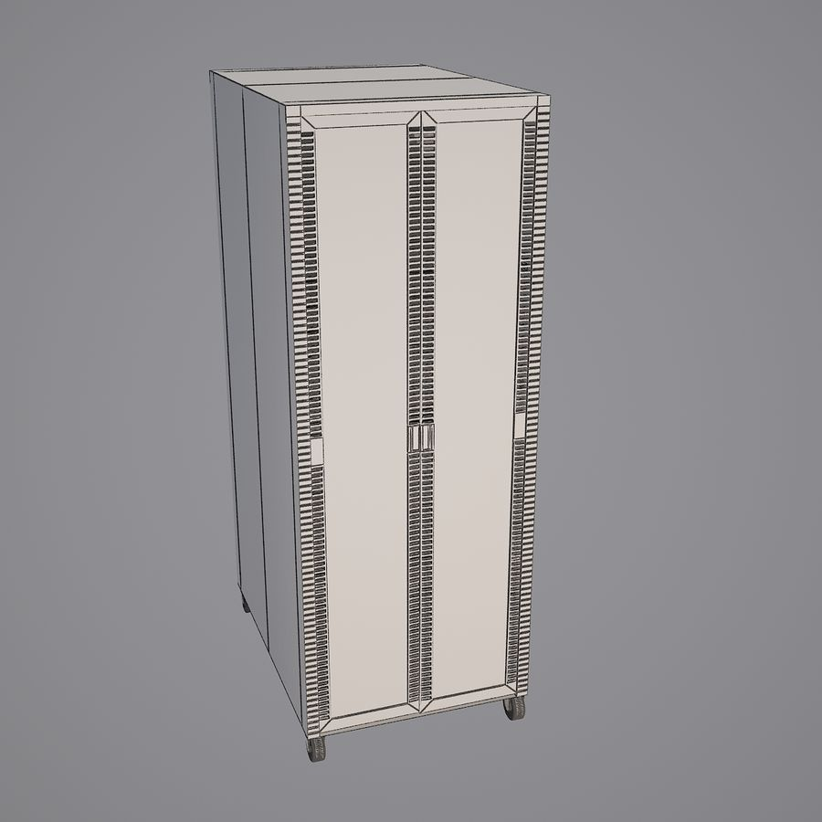 Dell Computer Server Rack royalty-free 3d model - Preview no. 7