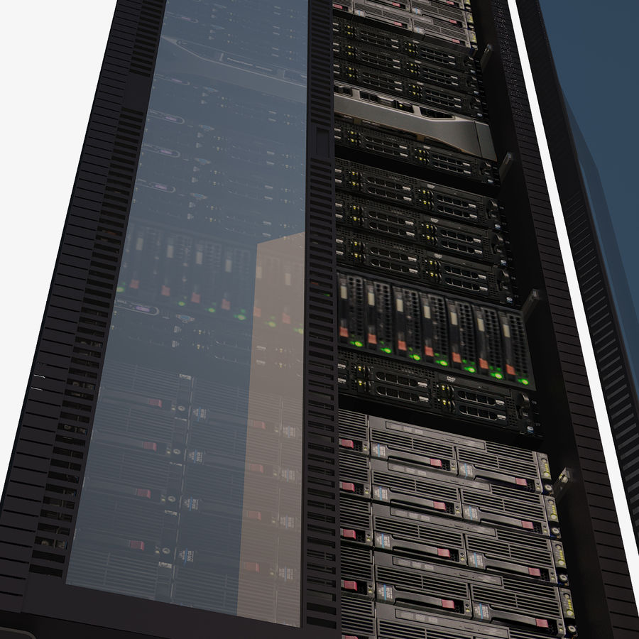 Dell Computer Server Rack royalty-free 3d model - Preview no. 6
