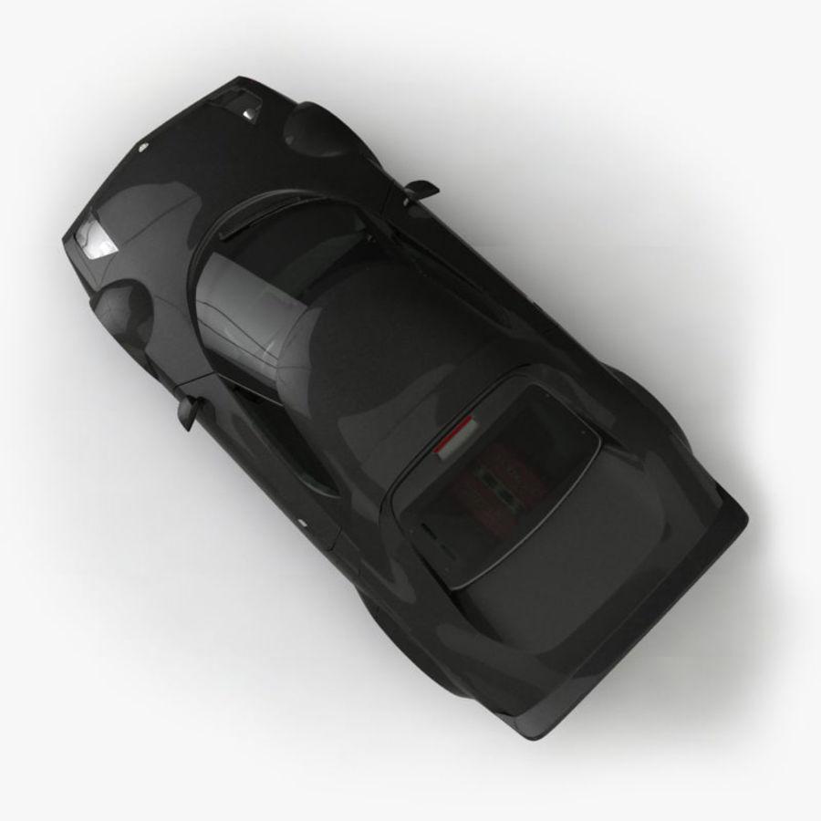 Lancia Stratos Concept Car 2010 royalty-free 3d model - Preview no. 5