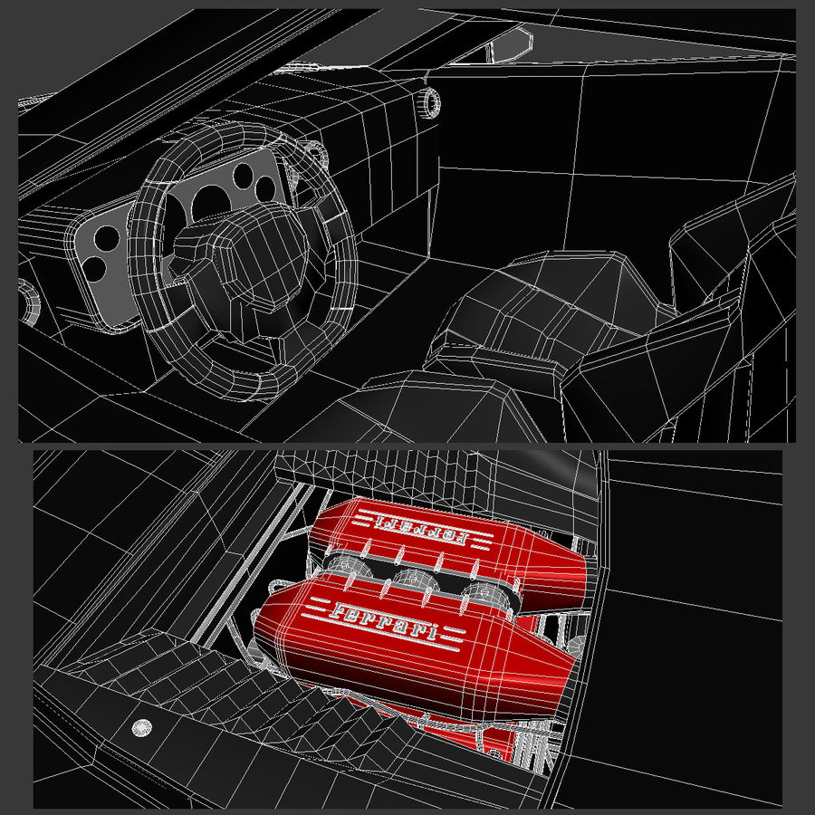 Lancia Stratos Concept Car 2010 royalty-free 3d model - Preview no. 12