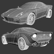 Lancia Stratos Concept Car 2010 3d model
