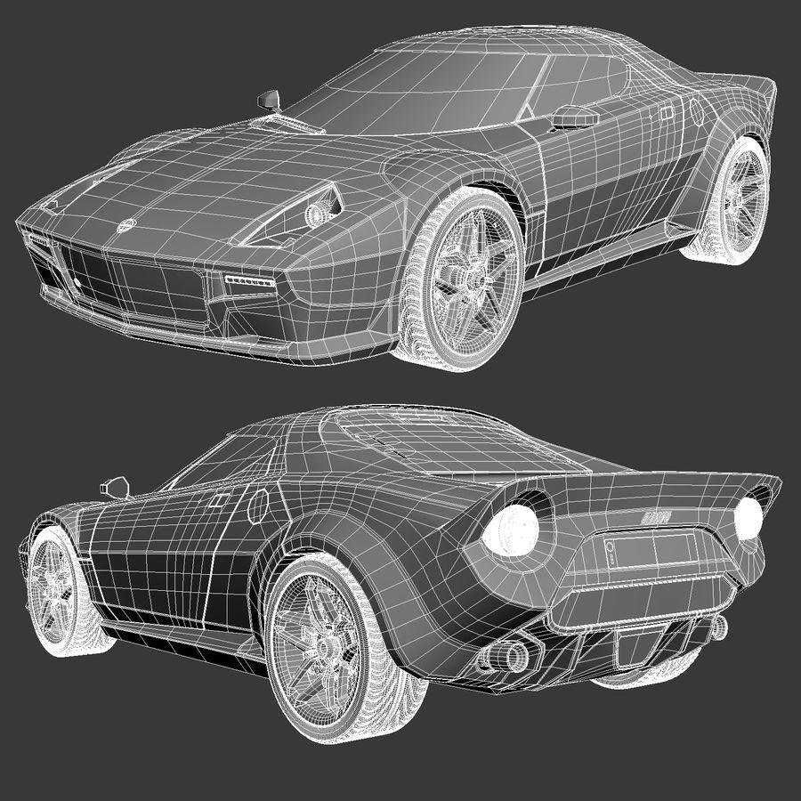 Lancia Stratos Concept Car 2010 royalty-free 3d model - Preview no. 1
